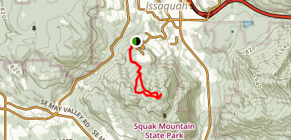 Bulitt Access Trail to Summit Map