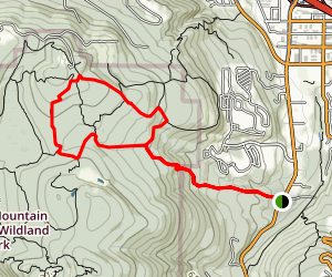 Bear Ridge to Shangri La Trail to West Tibbetts Creek Loop Map