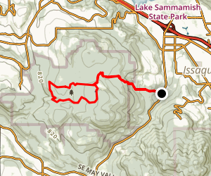 Bear Ridge Trail to Coal Creek Falls and Cave Hole Loop Map