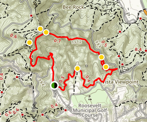 Glendale Peak Trail Map