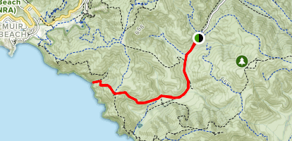 Pirates Cove via Tennessee Valley Trail Map