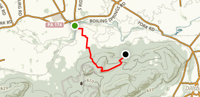Appalachian Trail: Boiling Springs to White Rock Trail Map