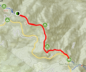 Kellogg Trail- Incineration Peak, Leopold Point and San Pedro Vista Map