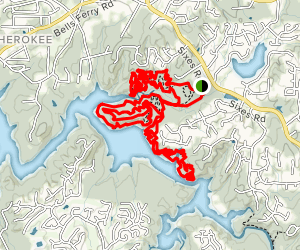 Blankets Creek MTB Trails Map