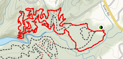 Mosquite Flats and Mosquite Bite Loop Map