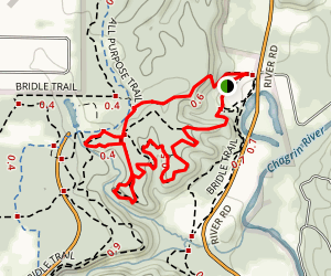 Bridle, White Pine, Scenic Loop and Squire's Lane Map