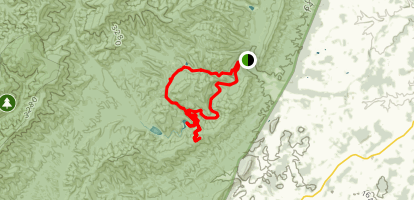 Staunton Reservoir to Hanley Mountain Road and North River Gorge Map