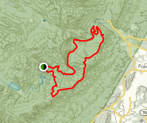 North River Gorge and WIld Oak Loop from Staunton Rd FR95B Map