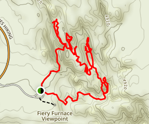 Fiery Furnace and Surprise Arch Map