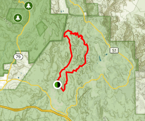 Noble Canyon and Indian Creek Loop Map