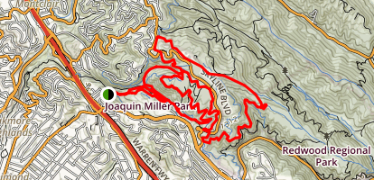 Joaquin Miller Park Loop Trail Map