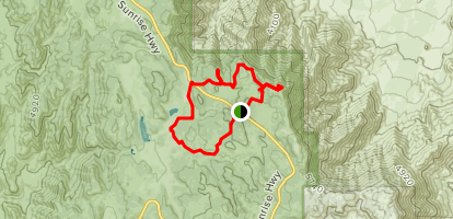 Monument Peak and Foster Point Loop Trail Map