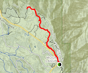 Pacific Crest Trail to Mount Laguna and Foster Point Map
