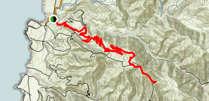 Oats Peak Trail Map