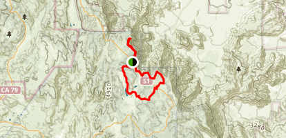 Garnet & Monument Peaks and Big Laguna Loop Map