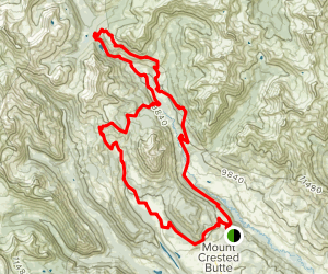 Mount Crested Butte North Loop Map