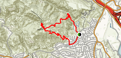 Mission Point via Bee Canyon and Decampos Trail Loop Map