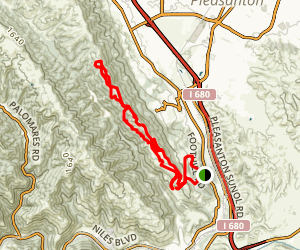Pleasanton Ridge Thermalito Loop Map