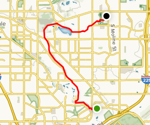 Highline Canal Trail Map