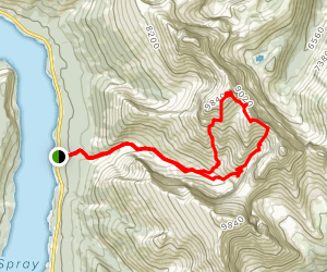 Mount Lougheed 2 and 3 Map