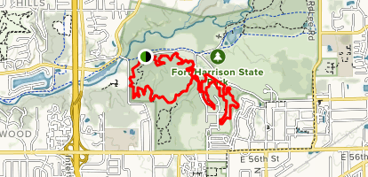Fort Benjamin Harrison MTB Loop Map