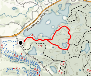 Hanrehan Lake Map