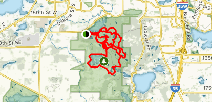 Hanraham Lake and Murphy Lake Map