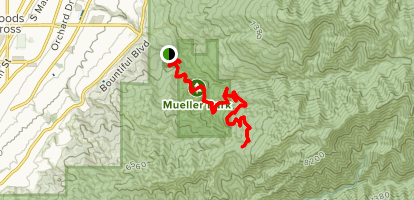 Muller Park Trail to Rudy's Flat Map