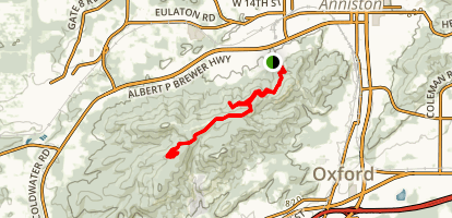 Anniston Trailhead to Rock Slot Map