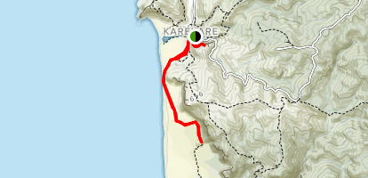 Karekare to Tunnel Point {CLOSED} Map