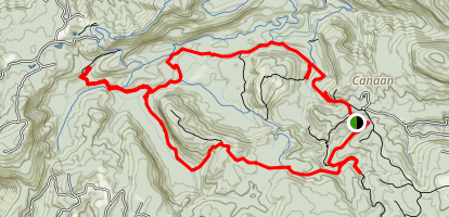 Panthertown Backcountry Loop Map