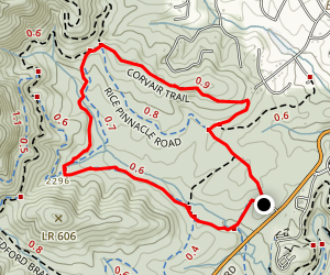 Corvair Trail to Wolf Branch Trail Loop Map