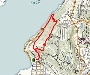 Knox Mountain Switchbacks Map