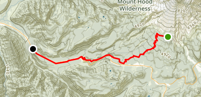 Timberline to Town Trail to Rhododendron Map