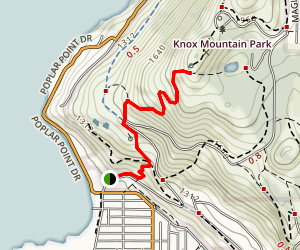 Knox Mountain Map