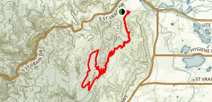 Picture Rock Trail and Wild Turkey Trail Loop Map