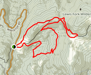 Helton Trail and Elk Garden Trail Loop  via Appalachian Trail Map