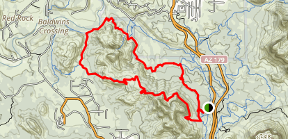 Cathedral Rock Loop: Hiline and Templeton Trails Map