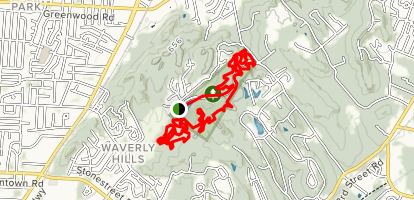 Waverly Park MTB Loop Map