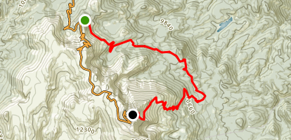 Elk Park Trail to Barr Trail Map