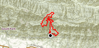 Romero Canyon and Montecito Loop Map