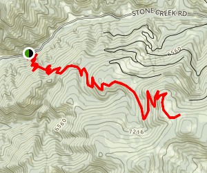 Bangtail Divide Trail Out and Back Map