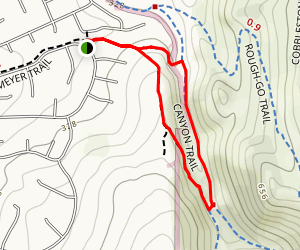 Canyon Trail/Vietnam Vets Memorial Trail Loop Map