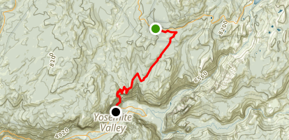 Tioga Pass Rd to Yosemite Valley Map