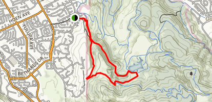 Spring Creek Trail and Canyon Trail Loop Map