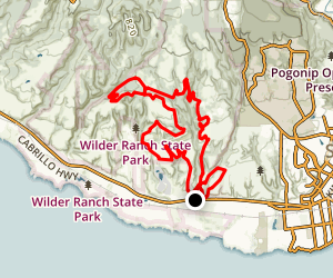 Wilder Ranch Singletrack Trails Loop Map