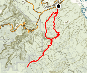 Tabuache, Ribbon, Andy's and Eagle Tail to Tabuache Loop Map