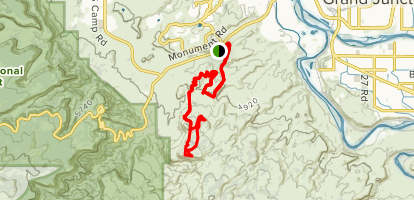 Raven Ridge and Free Lunch Loop Map