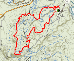 Holy Bucket, Holy Cross, Eagles Wing, and Miramonte Loop Map
