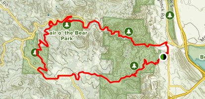 Mount Falcon and Lair O' the Bear Loop Trail Map